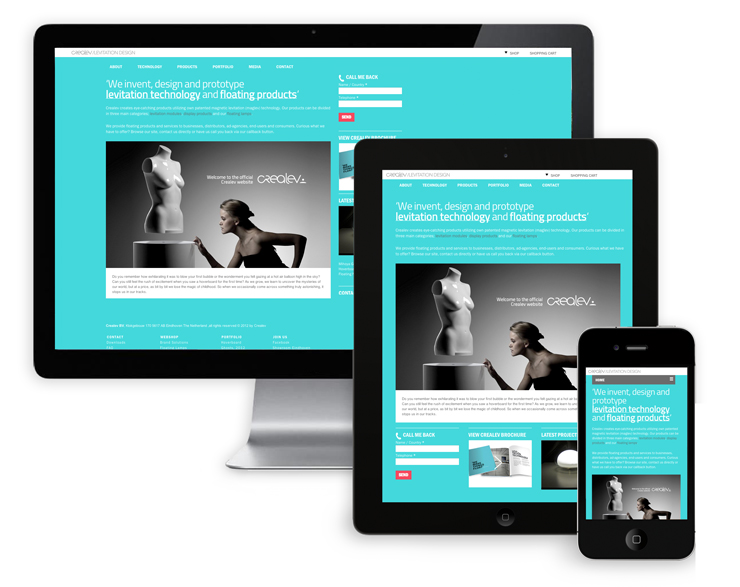 crealev site ontwerp