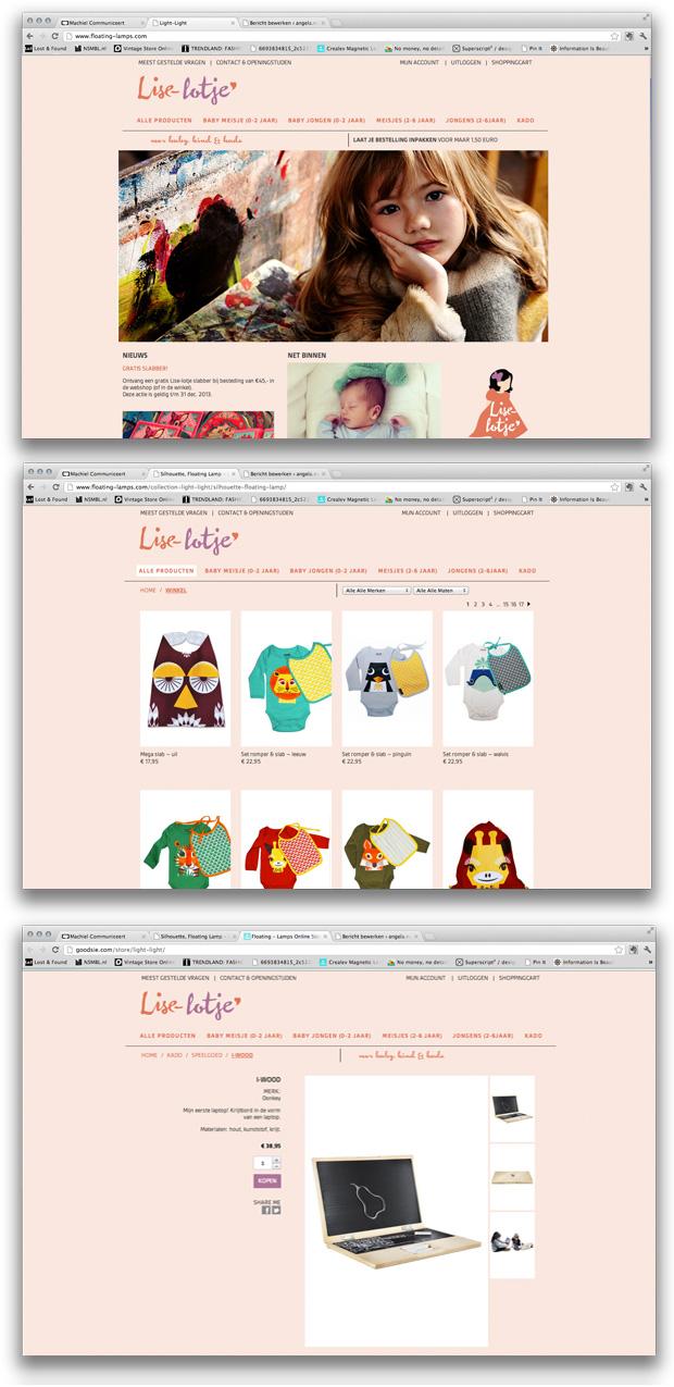 Webshop Design Lise-Lotje Leende