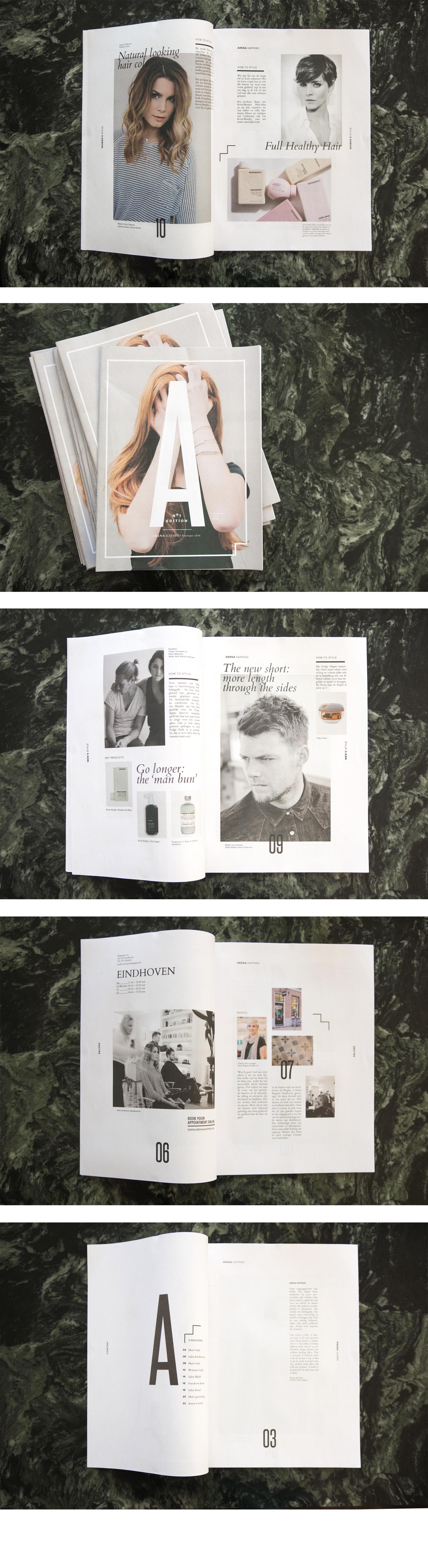 Magazine ontwerp Arena Kappers